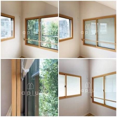 内窓と窓の間に収まるスリムブラインド