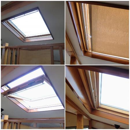 天窓にニチベイポポラ2のロールスクリーン:町田市 K様