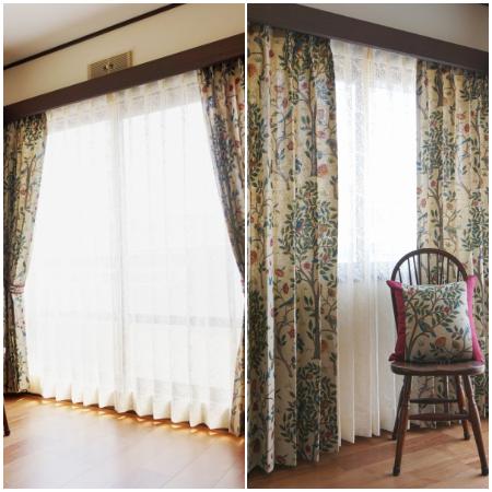 ウィリアム・モリスのカーテン施工例