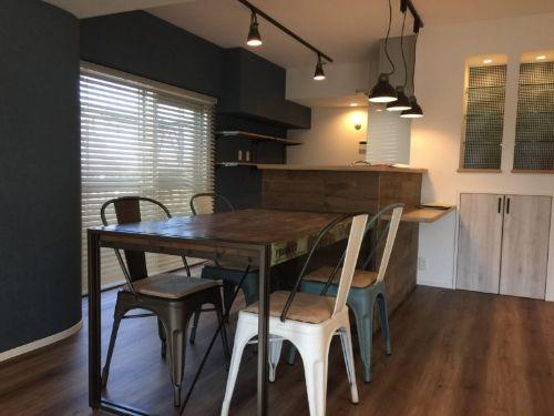家具・照明・木製ブラインド・カーテンをコーディネート